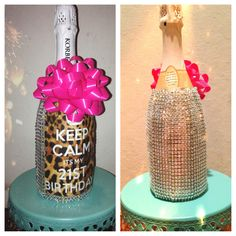 Cute 21st birthday gift hmmm maybe my crafty side will come out since all my friends will be turning 21 soon!