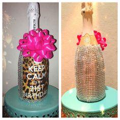 Cute 21st birthday gift #DYI #crafts #birthdays