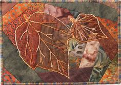 autumn leaves - crazy quilted