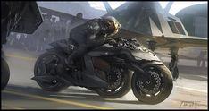Concept art by Patrick Faulwetter. (via Concept Art World Futuristic Motorcycle, Futuristic Cars, Futuristic Design, Concept Art World, Concept Cars, Gi Joe, Cyberpunk, Character Art, Character Design
