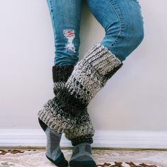 FREE CROCHET LEG WARMER PATTERN: These cozy leg heaters are crocheted with a carry-along reflective thread to present you a pair of heat and reflective security leg heaters for biking and climbing at night Crochet Leg Warmers, Crochet Socks, Free Crochet, Crochet Baby, Scarf Crochet, Freeform Crochet, Crochet Gifts, Scarfie Yarn, Cowls