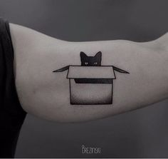 Ilya Brezinski cat tattoo