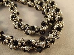Dew Drop Spiral Rope from Jill Wiseman's Beautiful Beaded Ropes Book  ~ Seed Bead Tutorials