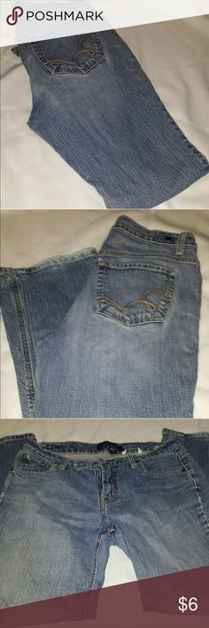 Denim Couture Bootcut Jeans Gray Colored Angel Wings