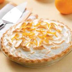 Florida Pie  A very different pie with oranges