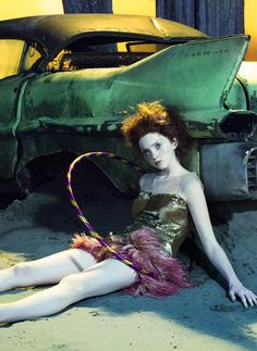 "Lily Cole in ""So Poetic"" By Miles Aldridge For Vogue Italia, August 2006"