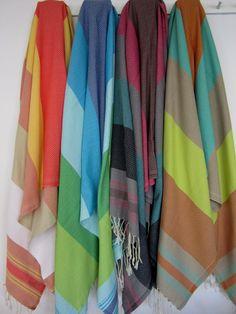 Fouta Multi Color Stripes BrightScents and Feel