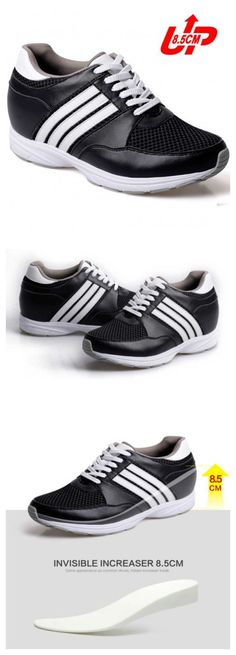 3.35 inch trendy microfiber sport height shoes  Increased Height: 8.5cm(3.35 inch)(Totally invisible)  Upper Material: Suede Leather  Lining Material: Mesh  Outsole Material: Rubber  Insole Material: PU  Occasion: Daily Casual  Shown Color: Black/White  Style: Sport  Season: Spring,Summer,Autumn,Winter  Wholesale: YES  OEM/ODM: YES