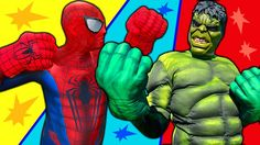 Spiderman vs HULK Boxing SUPERHEROES! Learn and Become Heroes Colors Bal...