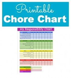 free printable chore chart for kids, includes bonus, commission, and even fines!
