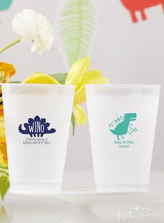 The perfect guest gifts for a baby shower, birthday party, gender reveal, or even a dino-inspired tailgate, Kate Aspen's Personalized 10 oz. Frosted Flex Cups are here to get the celebration started! Birthday Party Favors, Happy Birthday, Birthday Parties, Kate Aspen, Guest Gifts, Personalized Tags, Party Items, Refreshing Drinks, Gender Reveal
