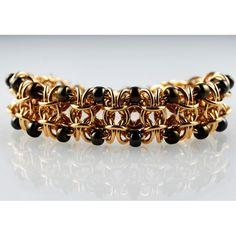 Chainmaille DIY Jewelry Beaded Gridlock Byzantine Bracelet Class | Nov. 12, 2013 | Blue Buddha Boutique