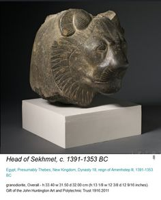 from the Cleveland Museum of Art - Head of Sekhmet - New Kingdom