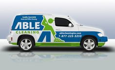 Truck wrap design for a home and office cleaning company in Burlington, NJ.