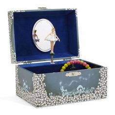 512ab6996ee JewelKeeper Girl s Musical Jewelry Storage Box with Twirling Fairy Blue and  White Star Design