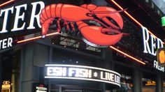 Red Lobster White Ticker Display