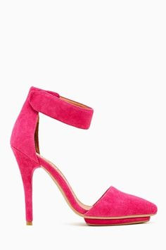 Jeffrey Campbell Solitaire Platform Pump - Hot Pink from Nasty Gal on Catalog Spree