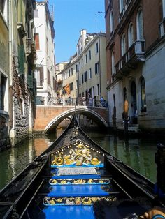 wandering around on gondola Venice