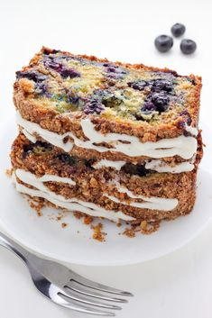 Blueberry Ricotta Crumb Cake - Baker by Nature