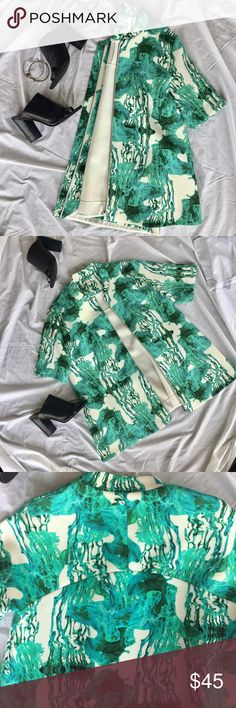 Cos Abstract Printed Jacket. Cos Abstract Printed Jacket. A-line silhouette and zippered front. Scuba-like material. Has side Sean pockets that are jersey knit material. Super funky and equally as comfy. Excellent condition. Only worn once!! cos Jackets & Coats
