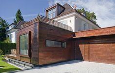 Umbau Siedlungshaus - a+p Architekten   Durch zwei Anbauten im Erdgeschoss erfolgt eine räumliche Ergänzung von Wohnbereich, Eingang und Garage...