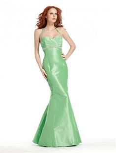 Taffeta Sweetheart with Removable Halter Sexy Trumpet Style - Special Occasion - RainingBlossoms