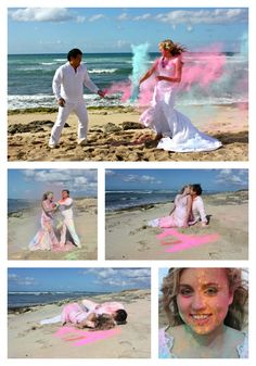 1st Year Anniversary (Wreck the Dress) Holi Powder. I used an organic powder that I ordered online. www.indiamart.com...