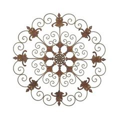 Metal Garden Crest  Inch Laser Cut Metal Wall Decor ($60) ❤ liked on Polyvore featuring home, outdoors, outdoor decor, brown, fleur de lis garden decor, outdoor patio decor, garden patio decor, lawn garden decor and garden decor