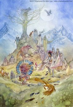 Stephanie Pui-Mun Law - Dreamdance Oracle - The Elders: It's a timeless dance --the circle of youth, maturity and age. Ideally, the Elders among us --including someday, the Elders we are or will become --show us their vitality and uphold the traditions that keep us strong.