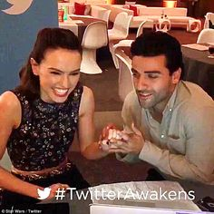 Harmonious: Star Wars actors Daisy Ridley and Oscar Isaac sang Baby It's Cold Outside duri...