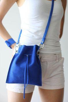 Small Leather Bag, Blue Leather Bag, Small Leather Crossbody Bag #bag