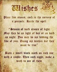 Image result for Old Wiccan Spells - Wishes