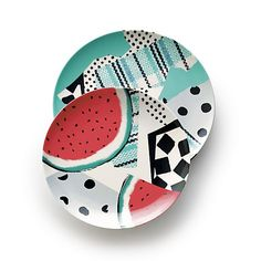 """Party Collage 9"""" Melamine Plate in Paola Navone Party 