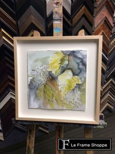 This water colour is floated up to show off its beautiful edges and is protected under art glass. It looks stunning!