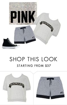 """pink"" by happygirlavenue ❤ liked on Polyvore featuring adidas and Converse"