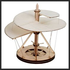 Leonardo da Vinci's Aerial Screw Invention Free Paper Model Download