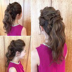 ♡party hair♡ 人気のポニーテール♡ドレスにぴったり☻ とっても可愛かったです♡ いつもありがとうございます♡ ・・・ #ヘアアレンジ #uアレンジ #ロングアレンジ #ポニーテール #結婚式 #プレ花嫁 #パーティーヘア #ひとくせポニー #hairarrange #partyhair #wedding #weddinghair