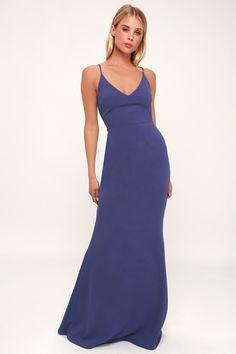7ebe7add4279a Infinite Glory Slate Blue Maxi Dress