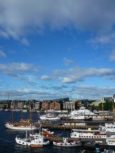 Harbor in Oslo, Norway
