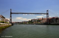 Bizkaia transporter bridge between Las Arenas and Portugalete. #portugalete #bilbao #basquecountry #paysbasque www.basquebirak.com