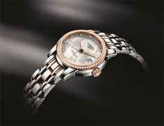 The Longines Saint-Imier Collection L2.263.5.87 #Longines #SaintImierCollection #MotherOfPearl #pinkgold #diamonds