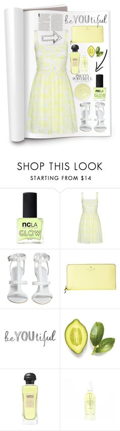 """Lime freshness"" by erohina-d ❤ liked on Polyvore featuring ncLA, Christopher Kane, Kate Spade, Fraiche, Hermès and Eve Lom"