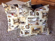 Kissenbezug 40x40 beige creme grau Maritim Vögel modern Kissenhülle ohne Kissen in Möbel & Wohnen, Dekoration, Dekokissen | eBay!