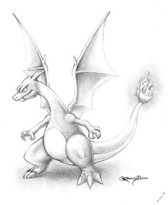 Charizard - Profesco by ErnestoVladimir on DeviantArt Scene from Pokemon: The First Movie, Mewtwo strikes back. I had no internet, and instead of working on that paper that's due today in about four hours, I had fun shading a scene from one of my favo. Pikachu Drawing, Pokemon Sketch, Pikachu Art, Pokemon Fan Art, Anime Sketch, Disney Drawings, Cartoon Drawings, Cool Drawings, Cartoon Art