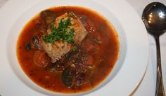 This rustic Mediterranean fish stew is quick to whip up and is sure to warm your belly on a cold night.