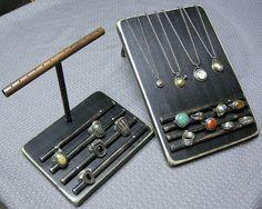 weathered wood jewelry display