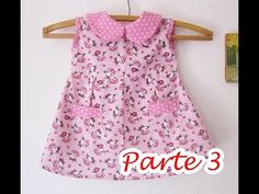 Montagem vestido baby (parte 1) - YouTube Baby Girl Frocks, Frocks For Girls, Dresses Kids Girl, Kids Outfits, Sewing Baby Clothes, Baby Sewing, Doll Clothes, Girls Frock Design, Baby Dress Design