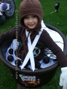 Giant Bowl of Cocoa Puffs Costume for a Child... This website is the Pinterest of costumes