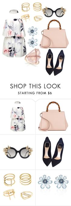 """Untitled #162"" by irmaa612 ❤ liked on Polyvore featuring beauty, Gucci, Alice + Olivia, Christian Dior, Charlotte Russe and Bronia"