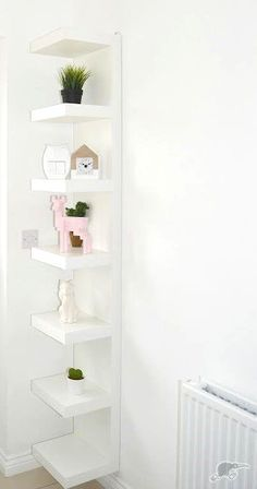 A tight space or an unused wall? You can also choose to hang it vertically or horizontally depending on space and storage needs. Cozy Room Decor, Shelf Unit, Ikea Wall Shelves, Wall Shelf Unit, Room Shelves, Aesthetic Room Decor, Ikea Lack Shelves, Home Decor, Room Ideas Bedroom